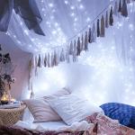 Beleuchtung Nachttische Schlafzimmer Weihnachtsbeleuchtung Lichterketten Bett Bettdecke Schlafzimmer Png Pngwing