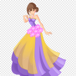 Ball Gown Dress Ball Purple Violet Flower Png Pngwing
