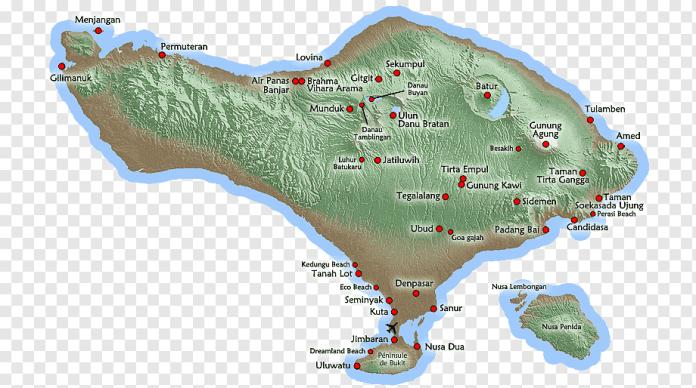 Sekumpul Map Ubud شرح ابن عقيل على ألفية ابن مالك Sunda Islands Map Map Indonesia Water Resources Png Pngwing