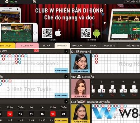Club W Casino –Giới thiệu sảnh Live Casino đẳng cấp châu âu tại W88