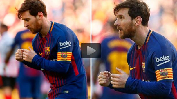 Cách ăn mừng chiến thắng lạ và khó hiểu của Messi