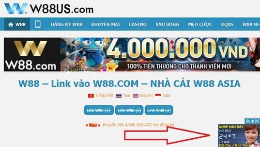 Hỗ trợ W88 trực tuyến - Liên hệ bộ phận Hỗ Trợ trực tuyến
