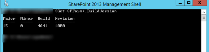 Build Number in PowerShell