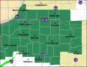 Flood watch map
