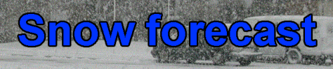 Snowfall forecast banner graphic