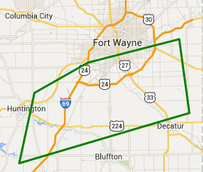 Areal flood advisory map