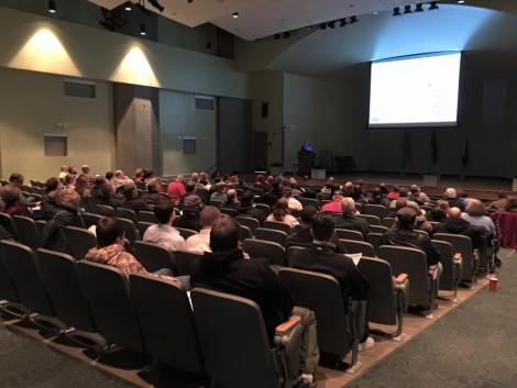 Audience at NWS SKYWARN storm spotter training, Fort Wayne, Indiana, Feb. 2015