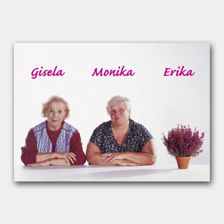 Plakat für Erika-Aktion im Blumen-Großhandel