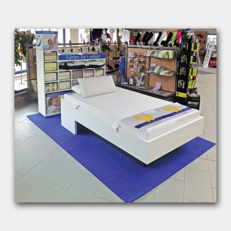 Shop-in-Shop-System fur Gesundheitsmatratzen