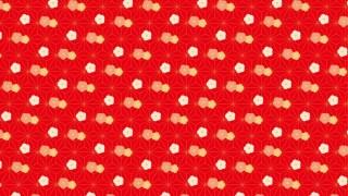 ねじり梅と麻の葉柄の包装紙