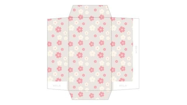 カジュアルスタンダードな桜柄のポチ袋