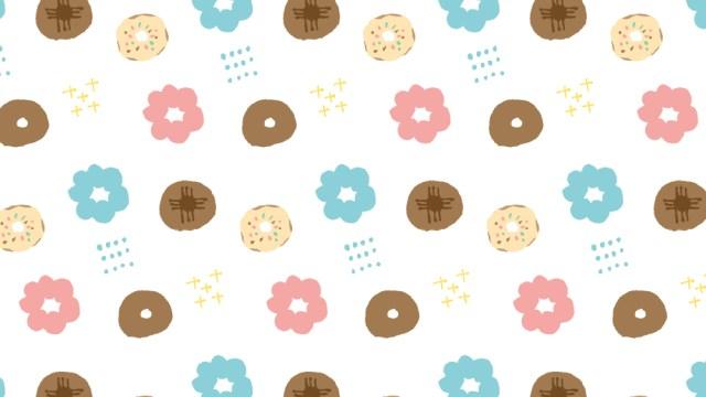 カラフルドーナツ柄の包装紙