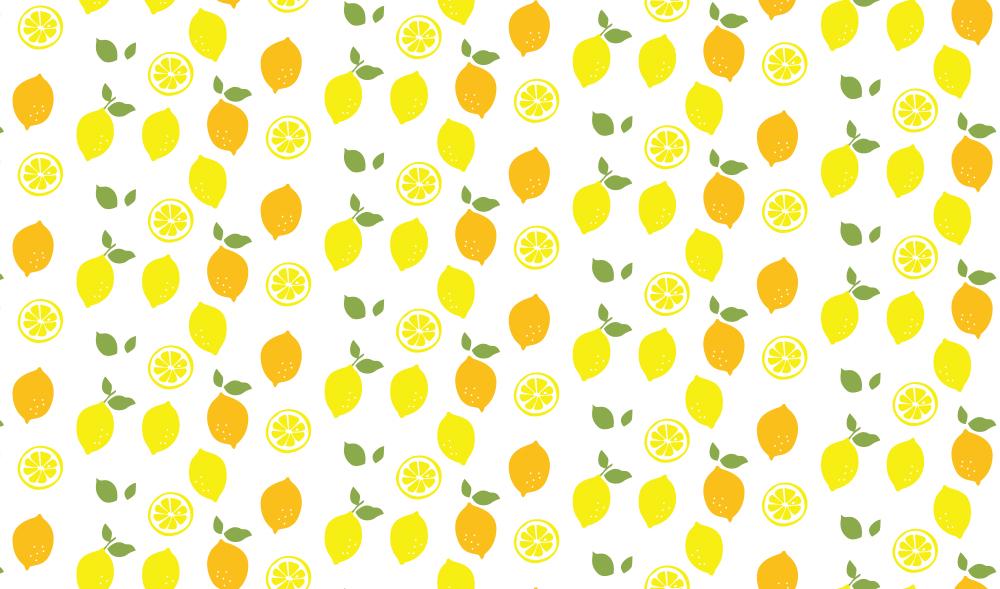 すっきりシトラス!レモン柄の包装紙