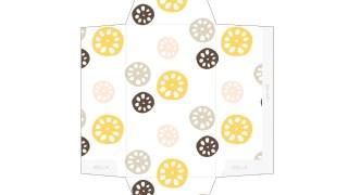カラフルれんこん柄のポチ袋