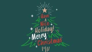 筆記体のロゴがおしゃれなクリスマスツリーののし紙