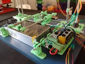 A impressora 3D, já quase pronta