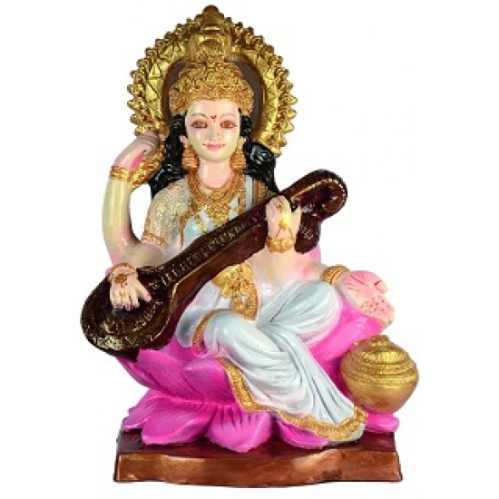 Buy Saraswati Mata Goddess Of Art And Knowledge L Online Products In India Waahkart Com