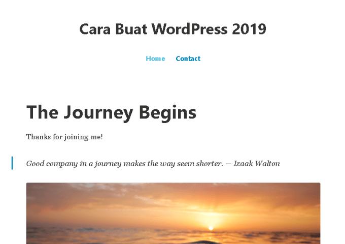 Cara Membuat Blog WordPress di tahun 2019