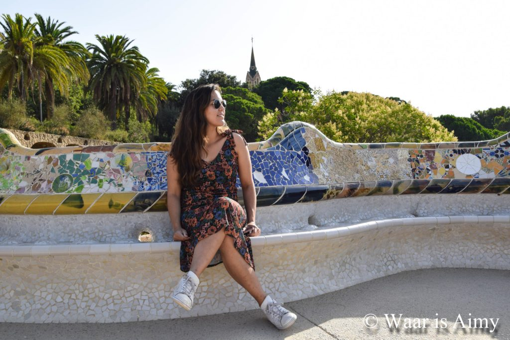 Waar is Aimy - Park Guell