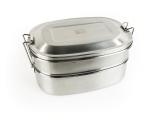 ReisWAAR – Lunchbox RVS dubbel (2x600ml)