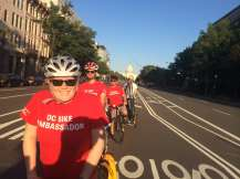 Bike Ambassadors tackle the Pennsylvania Ave. Cycletrack.