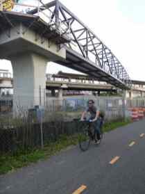 New bridge at the NoMa station
