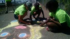 Bike Campers decorate the MBT