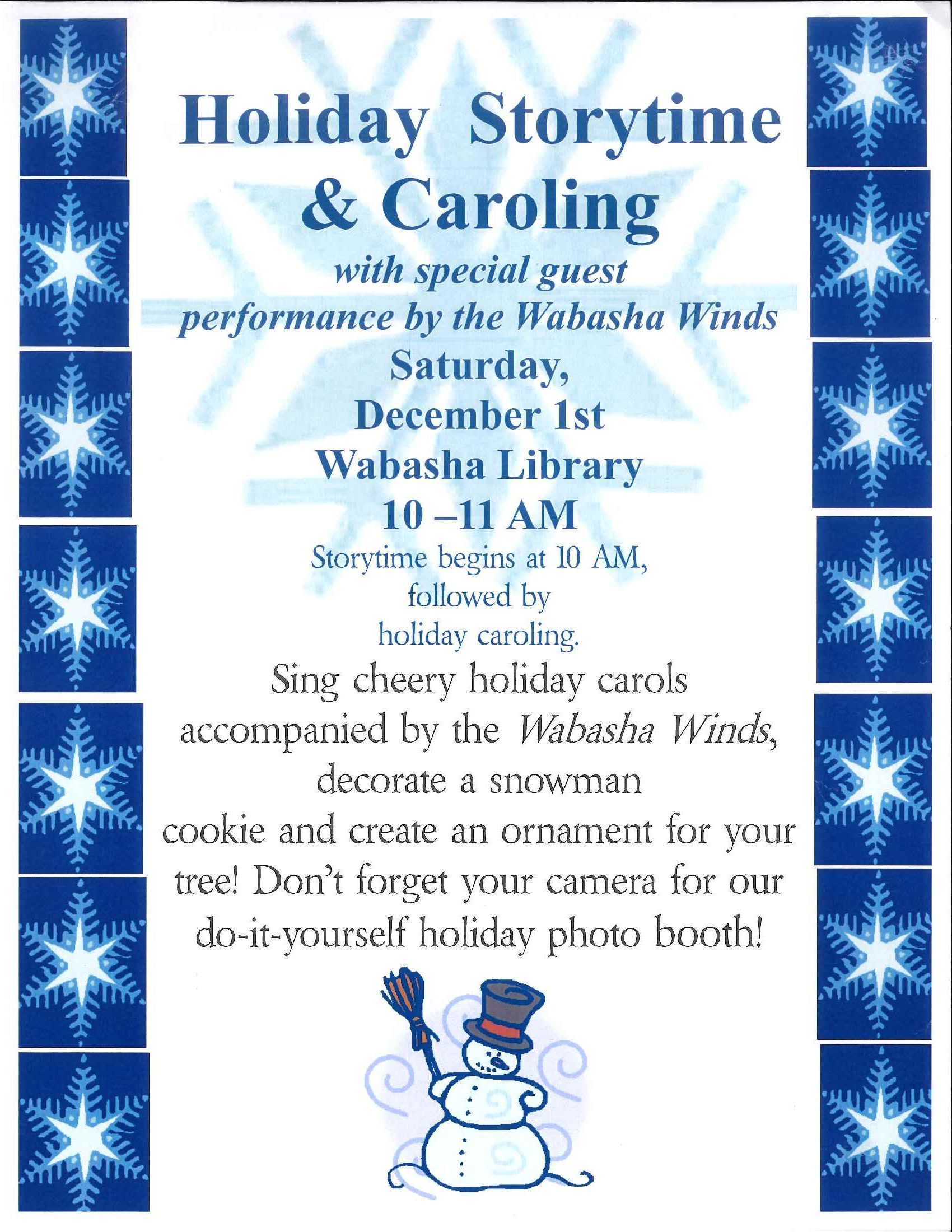 Holiday Storytime Sat Dec 1st At 10 A M Wabasha