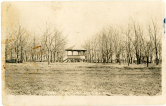 This view of the bandstand in he park at Alta Vista was printed as a real photo postcard by Zercher Photo in Topeka, circa 1910. Photo Courtesy Greg Hoots