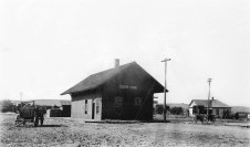 Manhattan, Alma & Burlingame Railway Depot, Eskridge, Kansas - 1890