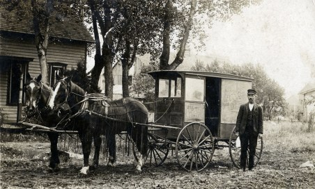 August Hansen's Dairy Wagon, McFarland, Kansas
