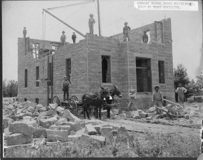 Franz Schilling and his crew constructed the Sacred Heart School in Newbury in 1905