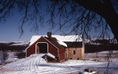 This Charles Herman color slide of the Schepp Barn was taken in the 1970s.