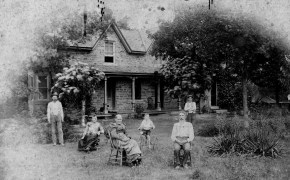 Alfred Sage, front right, and other unidentified family members pose in the yard of the Sage Inn in Dover, Kansas. Photo courtesy Joann Hepworth.