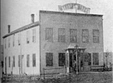 John Winkler's Winkler Hotel, seen here in Matt Thomson's Early History of Wabaunsee County, was Winkler's second hotel in Alma, Kansas. This hotel was located at the intersection of 2nd and Missouri Street.