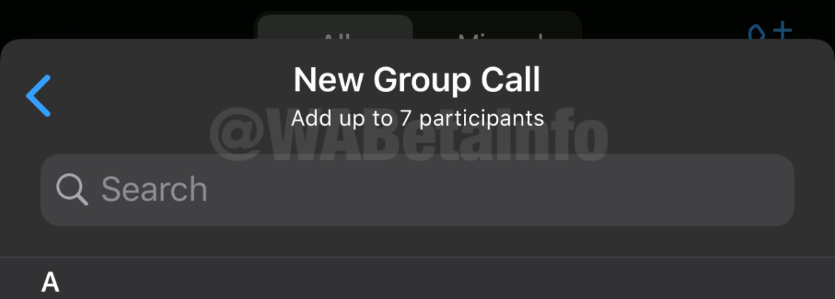 WhatsApp is rolling out a beta version that allows up to 8 participants in a video-audio call