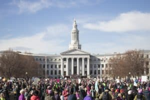 Women's March on Denver at the capital