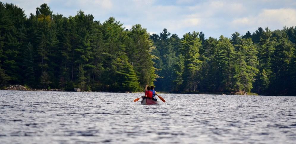 Paddling on Bell Lake