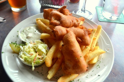 Fresh and wild caught Alaskan halibut and chips!