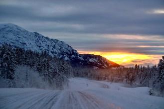 10:30am on the Alaska Highway. Marsh Lake, Yukon