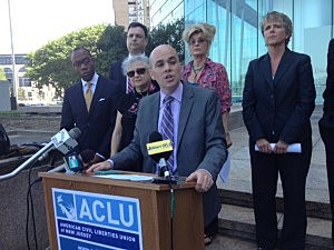 ACLU attorney Alex Shalom in Trenton