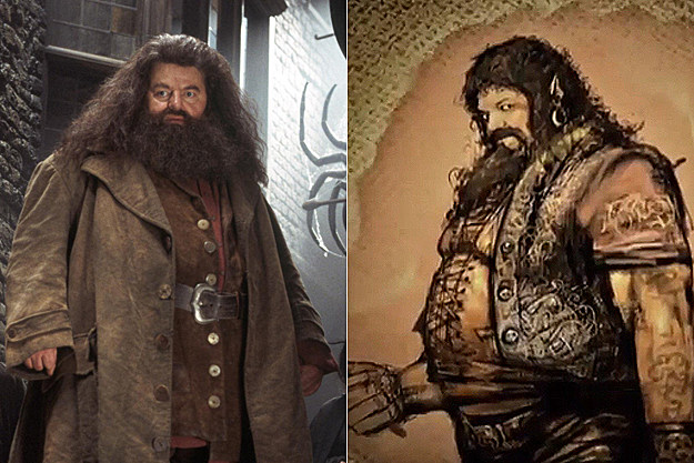Hagrid early concept art
