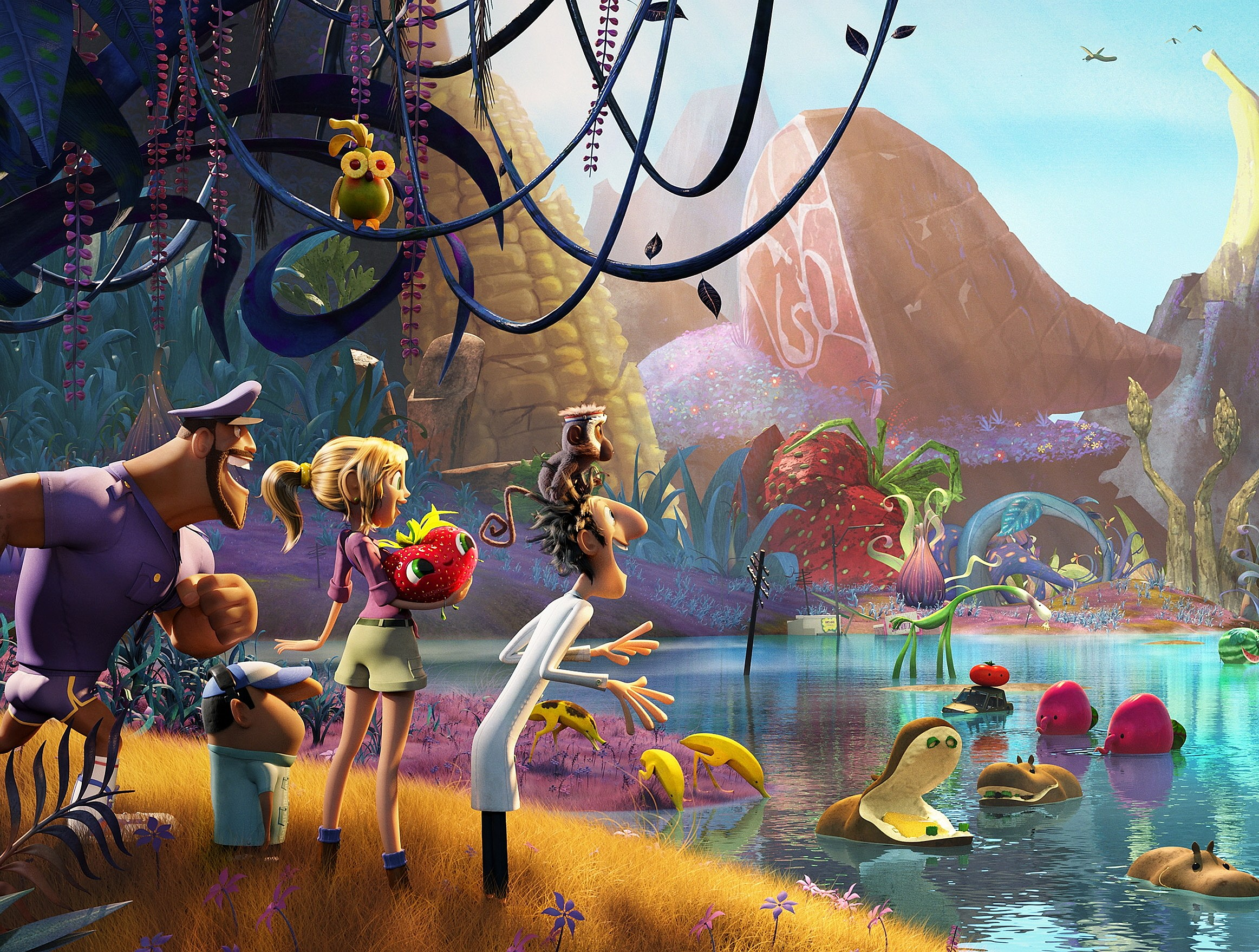 Cloudy With A Chance Of Meatballs 2 First Look Meet The