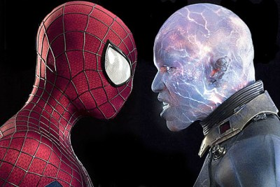 Peter Parker faces off against Electro in The Amazing Spider-Man 2