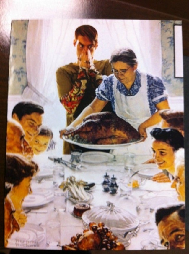 Want Freedom Norman Christmas Card Rockwell
