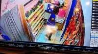 Aksi Pencurian saat terekan CCTV.