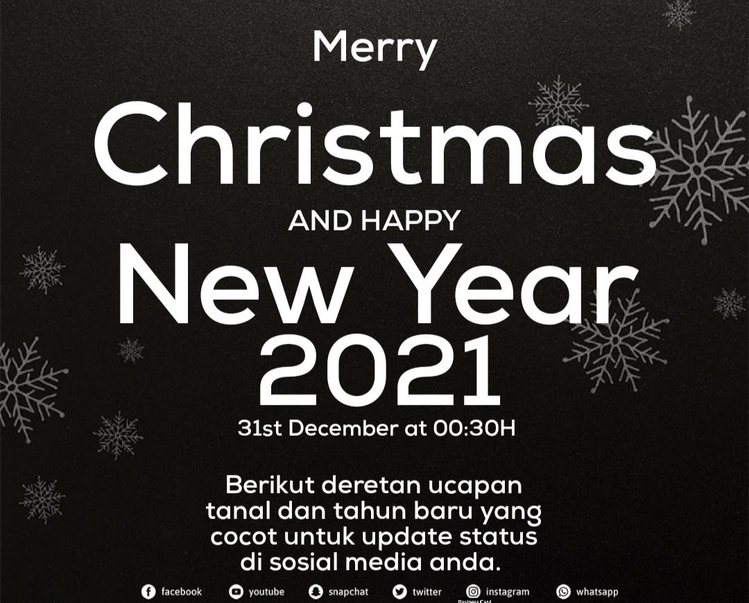 Ucapan natal 2020 dan tahun baru 2021