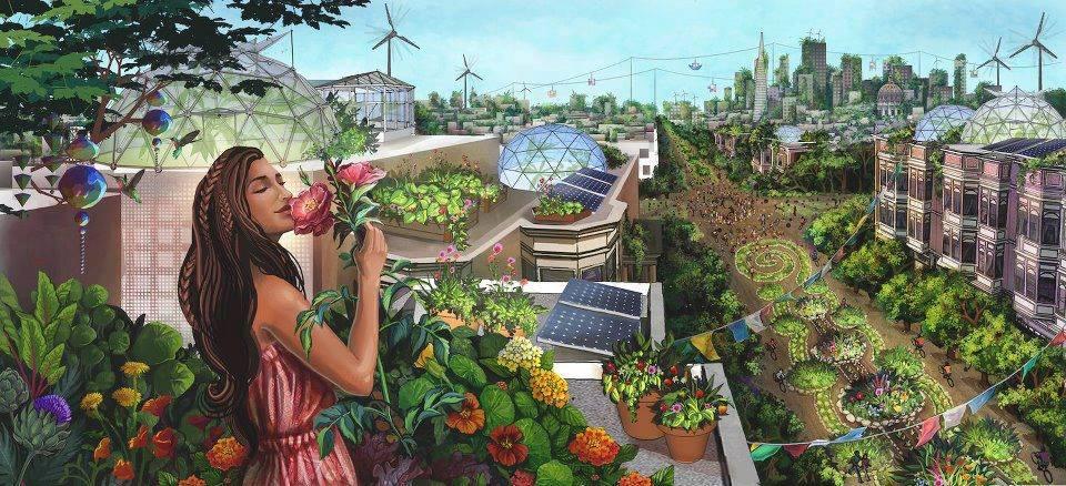 Grüne Städte der Zukunft