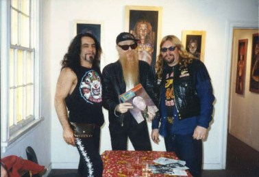 "Billy Shire, Billy Gibbons, Steve Mangi book signing ""Tattooed with Attitude"""