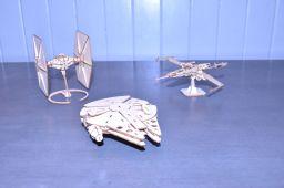 Tie Fighter & X-Wing Fighter Millennium Falcon
